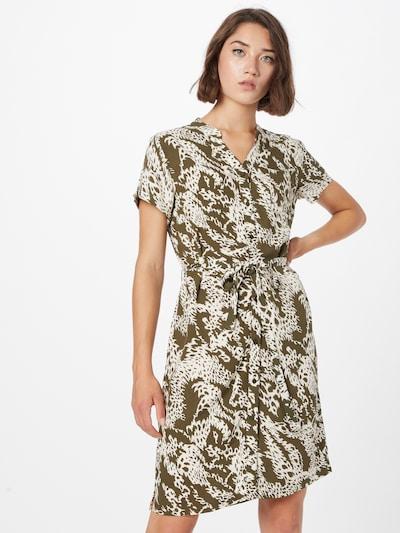 Rochie tip bluză 'BIRDY' OBJECT pe oliv / alb, Vizualizare model