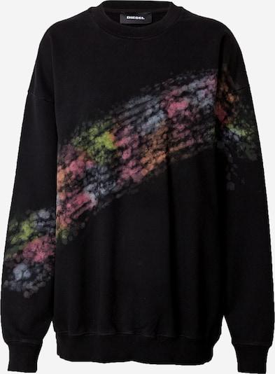 DIESEL Sweat-shirt en mélange de couleurs / noir, Vue avec produit