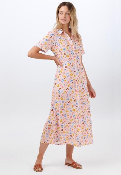Sugarhill Brighton Košilové šaty 'Danielle Arthouse Leopard' - modrá / hnědá / žlutá / pudrová, Model/ka