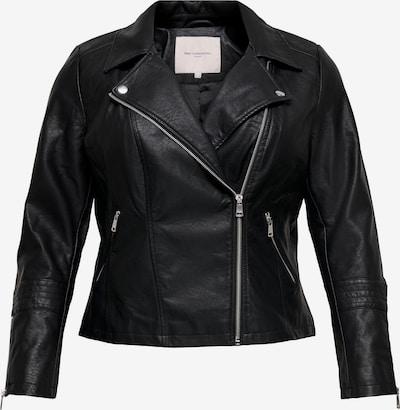 ONLY Carmakoma Kunstlederjacke in schwarz, Produktansicht