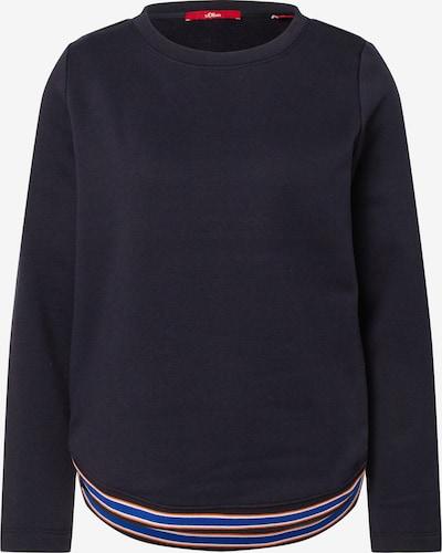 s.Oliver Sweatshirt in dunkelblau / mischfarben, Produktansicht