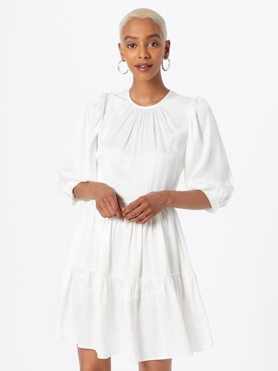 Rochie Closet London pe alb murdar, Vizualizare model
