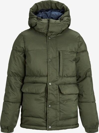 Jack & Jones Junior Veste d'hiver en vert foncé, Vue avec produit