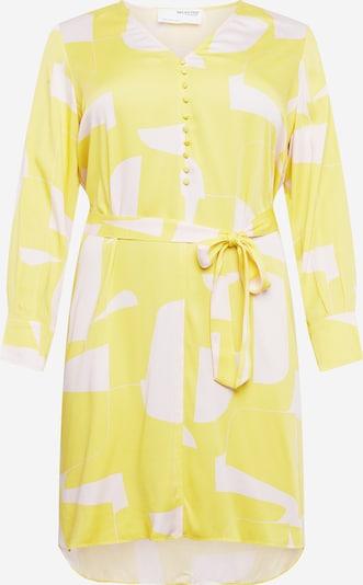 Selected Femme Curve Рокля 'DYNELLA' в жълто / бяло, Преглед на продукта