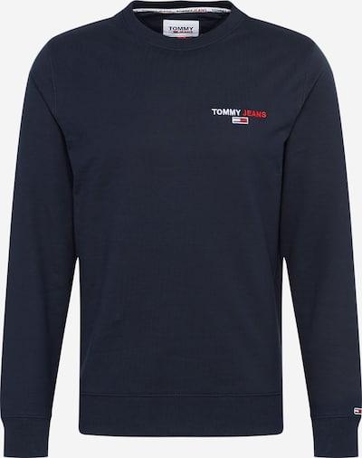 Bluză de molton Tommy Jeans pe albastru închis / pepene / alb, Vizualizare produs