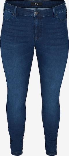 Zizzi Jean 'Janna' en bleu denim, Vue avec produit