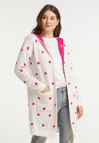 Geacă tricotată de la MYMO pe roz