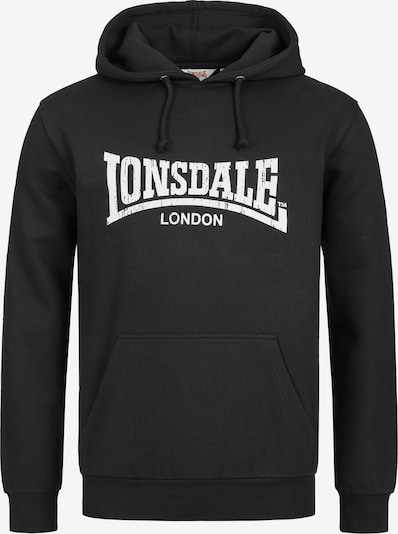 LONSDALE Hoodie WOLTERTON mit coolem Marken-Print in schwarz, Produktansicht