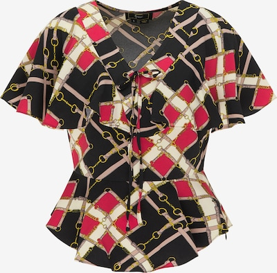 faina Blouse in de kleur Rood / Zwart / Wit, Productweergave