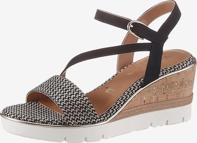 TAMARIS Páskové sandály - béžová / černá, Produkt