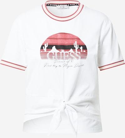 GUESS T-shirt 'VIRGINIA' i rosé / svart / vit, Produktvy