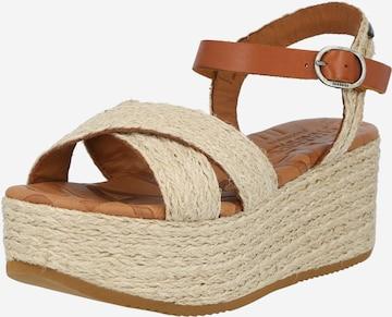 SHABBIES AMSTERDAM Sandale in Beige