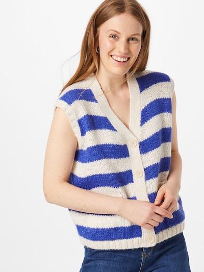Lollys Laundry Strickwesten 'Celine' in blau / weiß, Modelansicht