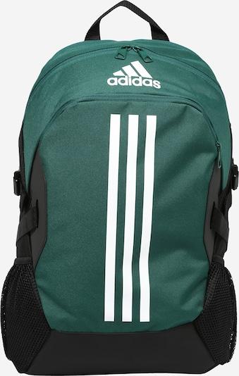 Sportinė kuprinė 'POWER 5' iš ADIDAS PERFORMANCE, spalva – smaragdinė spalva / juoda / balta, Prekių apžvalga