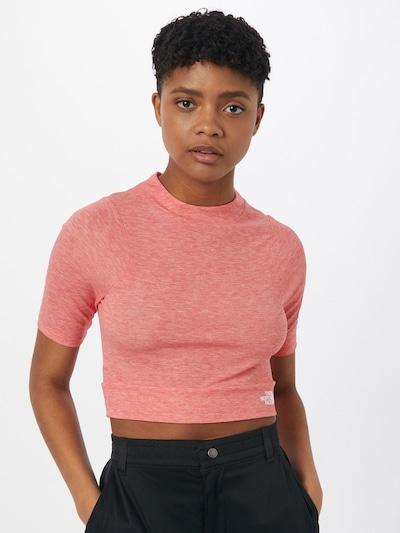 THE NORTH FACE Functioneel shirt 'VYTRUE' in de kleur Watermeloen rood / Wit: Vooraanzicht