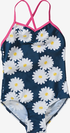 PLAYSHOES Badeanzug 'Margarite' in blau / pink / weiß, Produktansicht