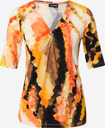 TAIFUN T-shirt en crème / orange / rouge / noir: Vue de face
