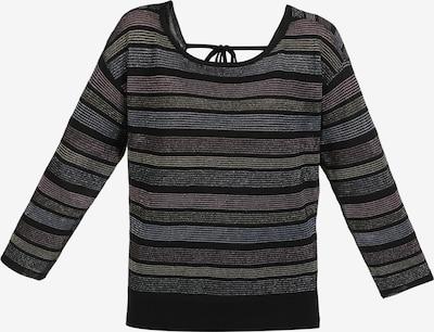 myMo at night Pullover in rauchblau / rosé / schwarz / silber, Produktansicht