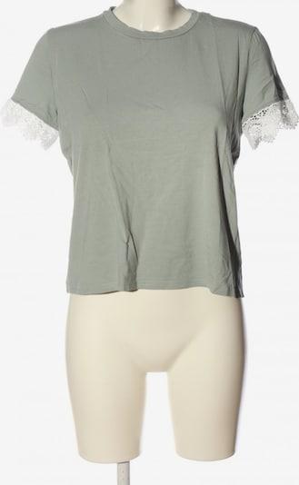 H&M T-Shirt in M in hellgrau / weiß, Produktansicht
