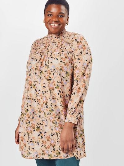 KAFFE CURVE Bluse 'Leana' in beige / mischfarben, Modelansicht