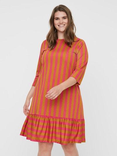 Vero Moda Curve Kleid in honig / pink, Modelansicht