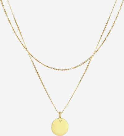 KUZZOI Halskette Geo, Layer in gold, Produktansicht