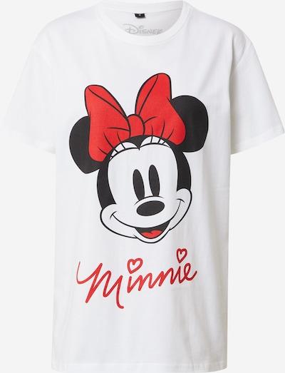 Merchcode Shirt 'Minnie Mouse' in rot / schwarz / weiß, Produktansicht