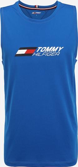 Tommy Sport Camiseta funcional en azul noche / azul real / rojo / blanco, Vista del producto