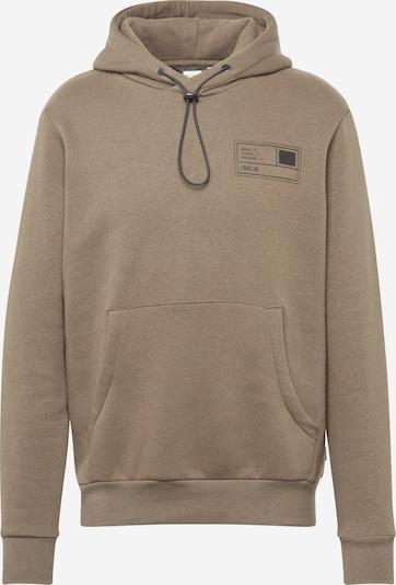 !Solid Sweatshirt 'Mirub' i oliven / sort: Frontvisning