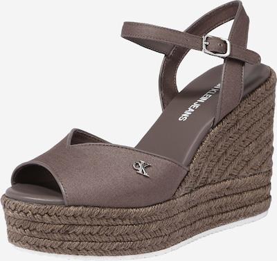 Calvin Klein Sandale in braun, Produktansicht