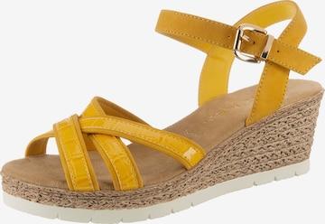 JANE KLAIN Sandale in Gelb