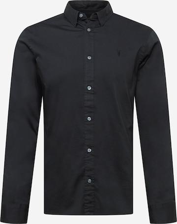 AllSaints Hemd 'Hawthorne' in Schwarz
