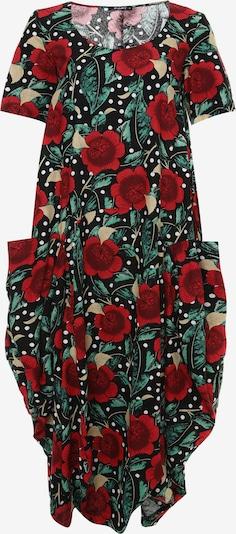 Madam-T Jurk 'KOSKA' in de kleur Rood / Zwart, Productweergave