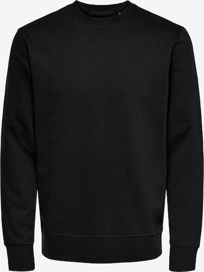Only & Sons Sweatshirt 'LUIGI' in de kleur Zwart: Vooraanzicht