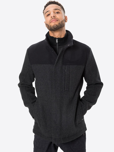 ESPRIT Prehoden plašč 'Block' | antracit / črna barva, Prikaz modela