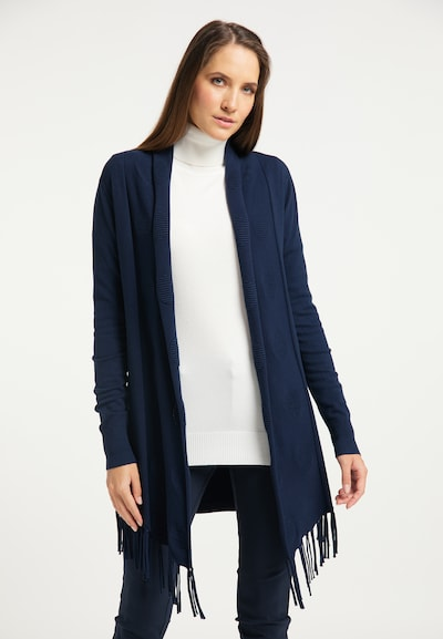 DreiMaster Klassik Strickjacke in nachtblau, Modelansicht