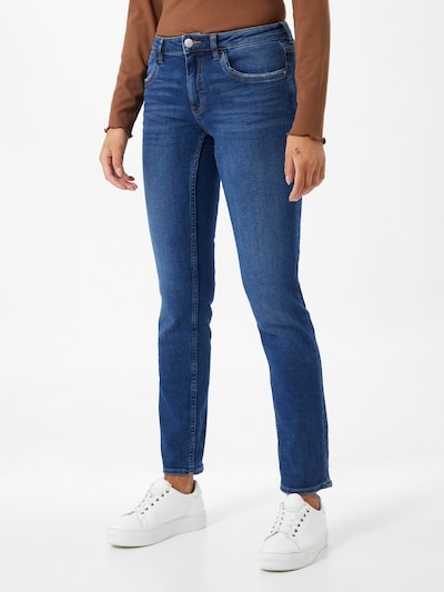EDC BY ESPRIT Jeans in de kleur Donkerblauw, Modelweergave