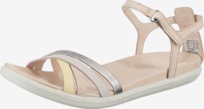 ECCO Sandale in beige / gelb / silber, Produktansicht
