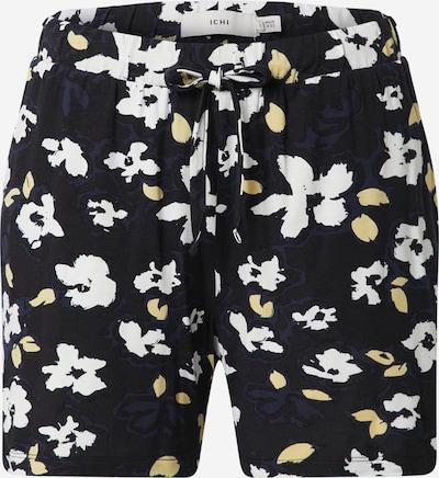ICHI Spodnie w kolorze jasnożółty / czarny / białym, Podgląd produktu