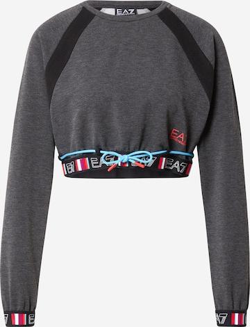 EA7 Emporio ArmaniSportska sweater majica - siva boja