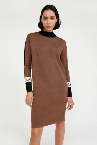 Finn Flare Gebreide jurk in Bruin