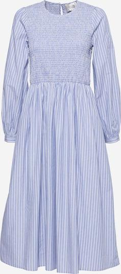 SECOND FEMALE Kleid 'Sariah' in rauchblau / weiß, Produktansicht