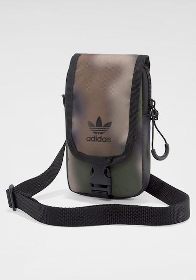 ADIDAS ORIGINALS Umhängetasche in braun / hellbraun / dunkelgrün / schwarz, Produktansicht