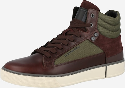 G-Star RAW Sneaker 'Ravond' in dunkelbraun / grün, Produktansicht