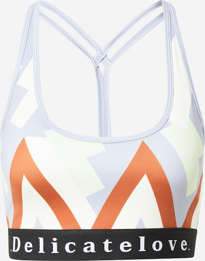 Sutien sport 'SHIVA' DELICATELOVE pe albastru deschis / portocaliu / negru / alb, Vizualizare produs