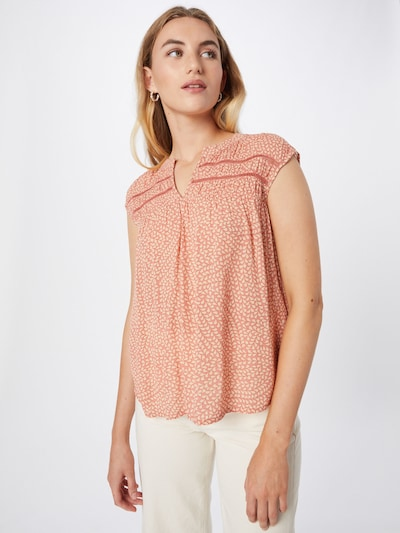 COMMA Blouse in Beige / Coral, View model