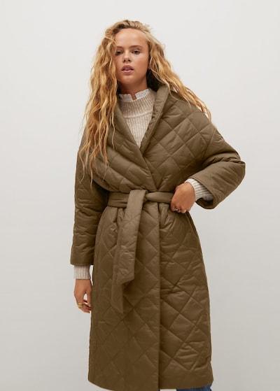 Palton de primăvară-toamnă 'Verdure' MANGO pe bej, Vizualizare model