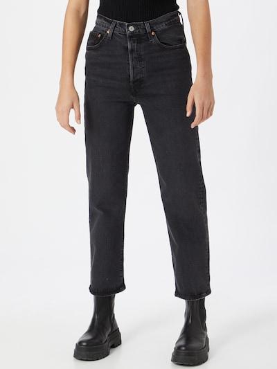 LEVI'S Jeans 'RIBCAGE' in de kleur Black denim, Modelweergave