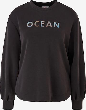 s.Oliver Sweatshirt in Black