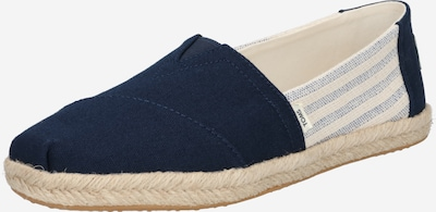 TOMS Espadrilles in Beige / Navy / mottled blue / White, Item view